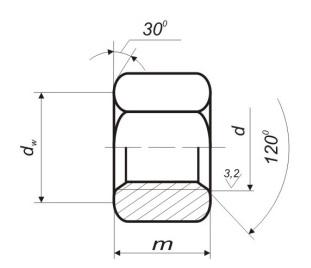 Гайки шестигранные ГОСТ 9064-75